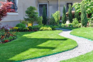Lawn care with your hands. Getting rid of weeds, mowing the lawn right, fertilize, water and hold soil aeration