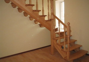 Figured wood staircase to testify. How to make a wooden ladder with your hands