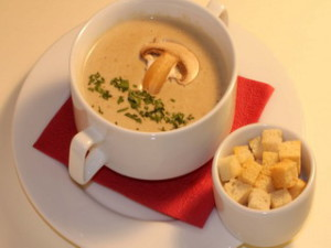 Mushroom sauce, or mushroom soup. A delicious recipe for the festive table